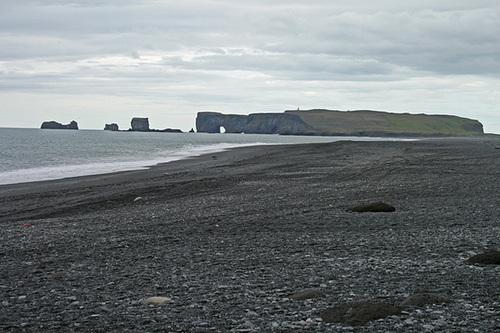 Black sand beach at Reynisfjara