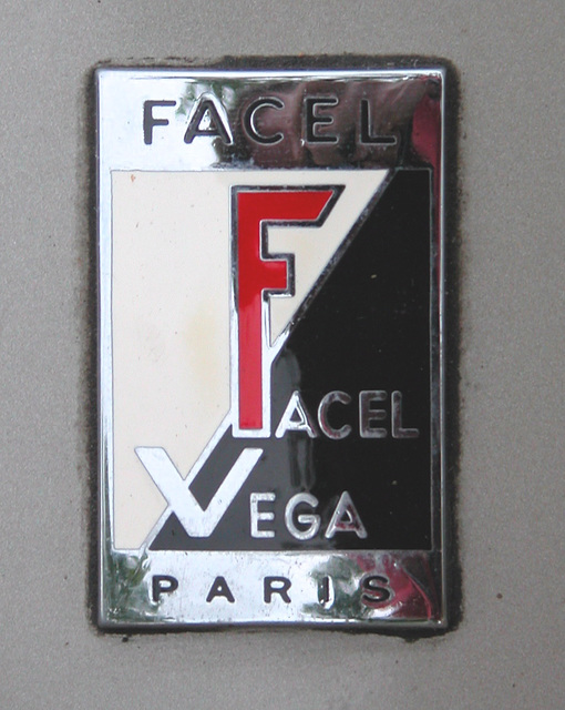 Facel Vega Facellia F2B badge