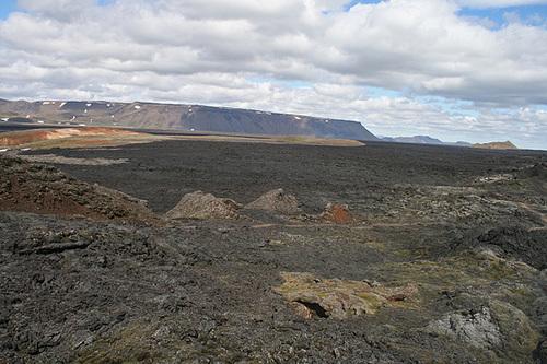 Expanse of lava