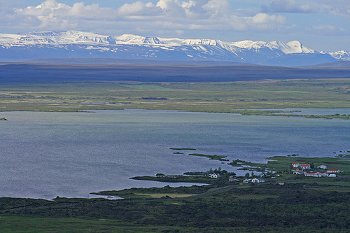 View from the rim of Hverfell over Mývatn