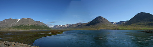 Icelandic panorama, near Ísafjörður