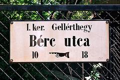 Budapest street sign