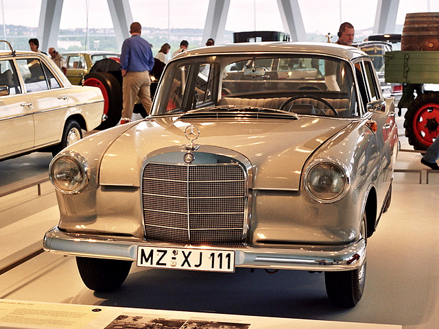 Visiting the Mercedes-Benz Museum: 1962 Mercedes-Benz 190