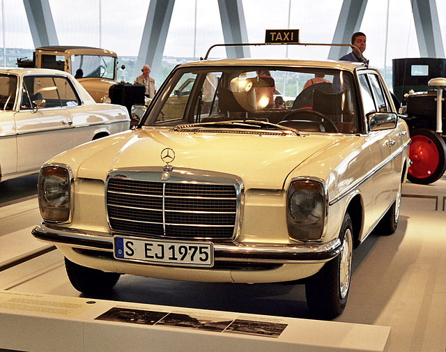 Visiting the Mercedes-Benz Museum: Mercedes-Benz 240 D taxi