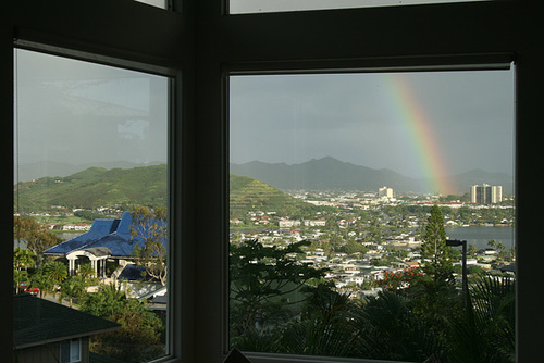 Rainbow from the Sumit Restaurant