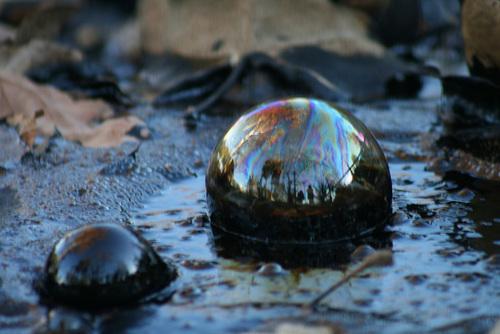 Tar bubbles