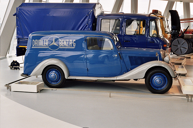 Visiting the Mercedes-Benz Museum: 1952 Mercedes-Benz 170V Panel Van