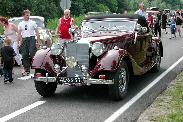 Mercs at the National Oldtimer Day: 1938 Mercedes-Benz 320 Cabriolet A (W142)