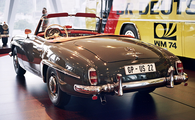 Visiting the Mercedes-Benz Museum: 1958 Mercedes-Benz 190 SL