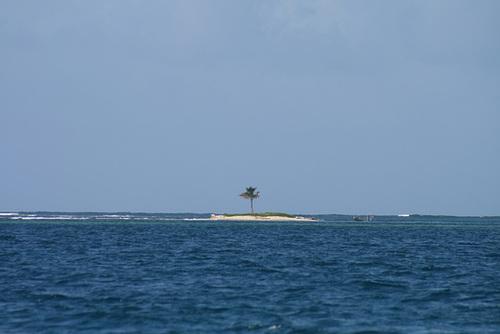 A cartoon island