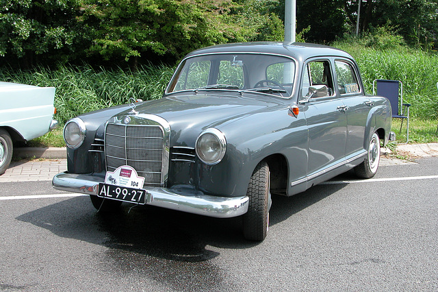 Mercs at the National Oldtimer Day: 1962 Mercedes-Benz 180