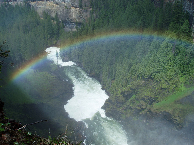 Rainbow over Helmcken Canyon