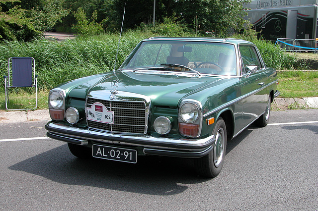 Mercs at the National Oldtimer Day: 1971 Mercedes-Benz 250 C  (American version)