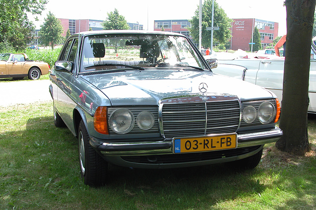 Mercs at the National Oldtimer Day: 1982 Mercedes-Benz 200 D (W123)