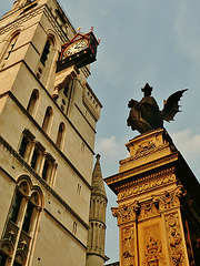 law courts and temple bar memorial, fleet st., london