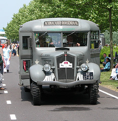 Heavy vehicles at the National Oldtimerday: 1936 White US Navy bus