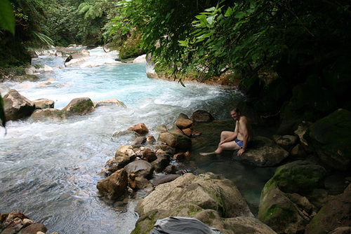 A Hot Spring By A River