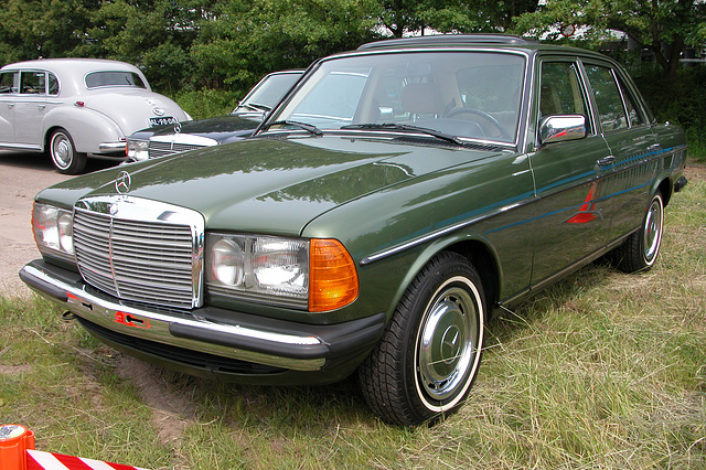 Mercs at the National Oldtimer Day: Mercedes-Benz 240 D (W123)