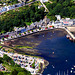 Tobermory's colour palette of a main street - aerial