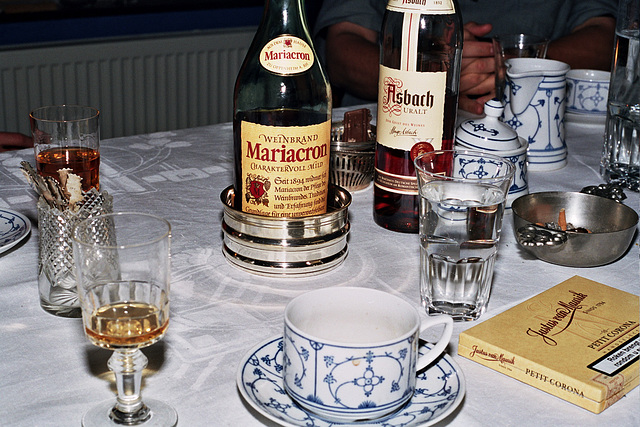 After dinner with German brandy