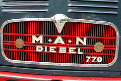 Car Badges at the National Oldtimer Day in Holland: 1962 M.A.N. 770