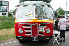 Heavy vehicles at the National Oldtimerday: 1958 Berna 2 UPR 2H Autobus