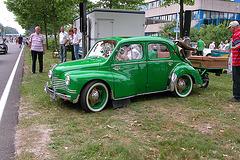 National Oldtimer Day in the Netherlands: 1950s Renault 4CV with orginal trailer