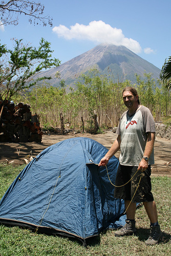 Camping in a Volcano's Shadow