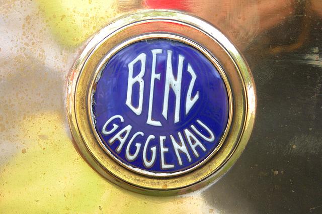 Car Badges at the National Oldtimer Day in Holland: 1920 Benz Gaggenau badge
