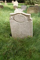 Memorial to James and Elizabeth Homes, Benacre Church, Suffolk