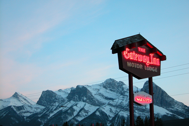 My motel just outside Banff National Park