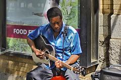 Blues Singer – Outside the Reading Terminal Market, Philadelphia, Pennsylvania