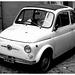 Rome Honeymoon Fuji XE-1 Fiat 500 1 mono