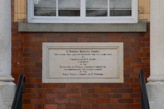Highgate Library foundation stone