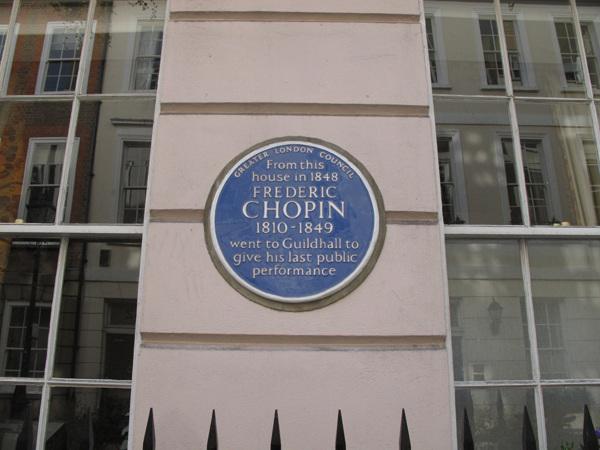 Chopin blue plaque