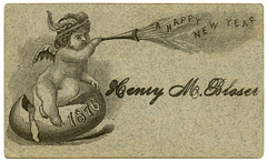 A Happy New Year, 1876, Henry M. Bloser