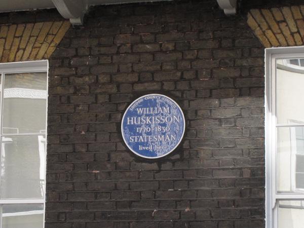 William Huskisson plaque