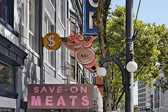 When Pigs Fly! – Hastings Street between Abbott and Carrall, Vancouver, British Columbia