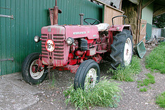 Farm equipment: abandoned International Harvester McCormick tractor