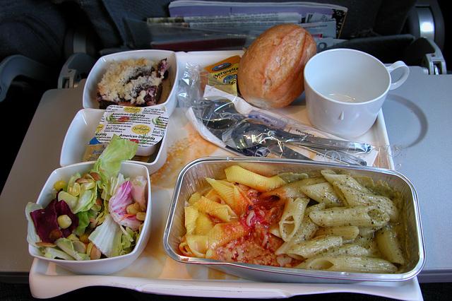 Meals on a plane: noodles