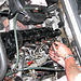 Checking and adjusting valve clearance on a Mercedes-Benz 300D (W123)