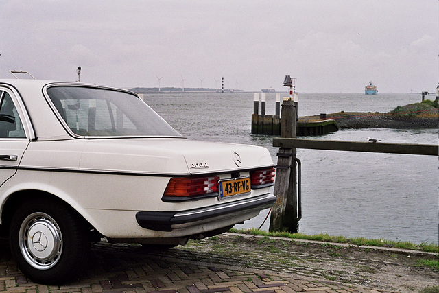 My Benz at the Hook of Holland