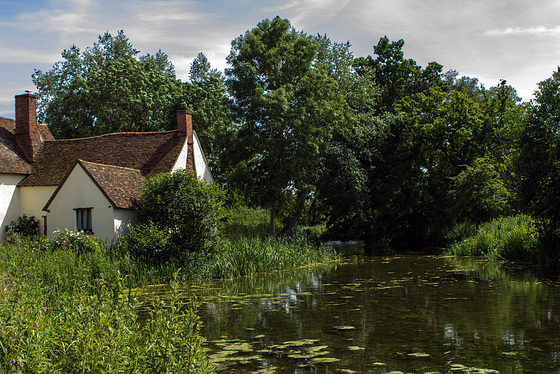 Willy Lotts Cottage on the River Stour