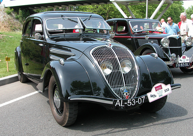 National Oldtimer Day in Holland: 1936 Peugeot 402 Limousine
