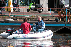 Small boys, small boat