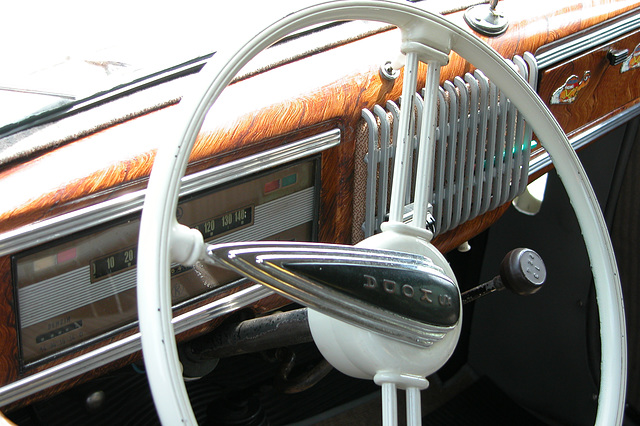 National Oldtimer Day in Holland: 1949 Skoda 1101 Roadster dashboard