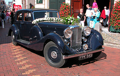 1937 Lagonda on marriage service