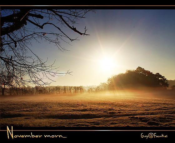 November morn