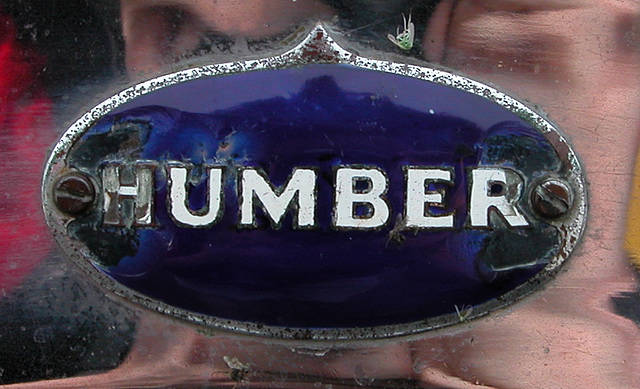 National Oldtimer Day in Holland: badge of a 1931 Humber Royal Pullman