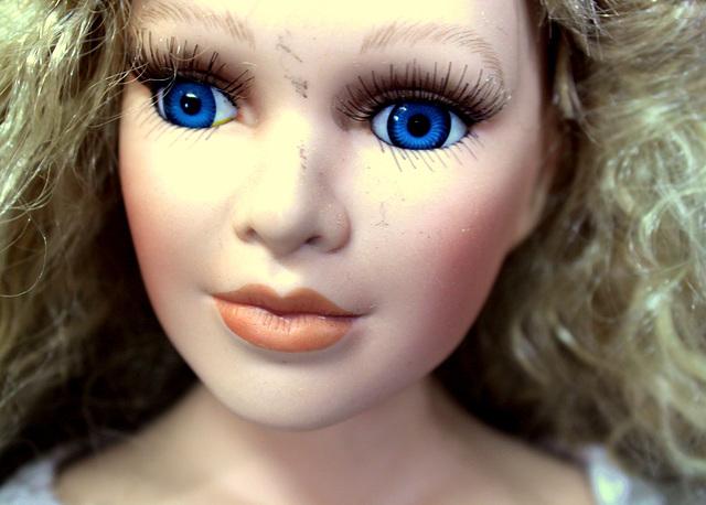 Doll in junk shop